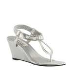 Dyeables Womens Mila Silver Shimmer Synthetic Sandals Wedding Shoes