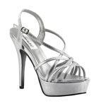 Dyeables Womens Cali Silver Metalllic Platforms Pageant Shoes