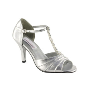 Dyeables Womens Makayla Silver Satin Sandals Wedding Shoes