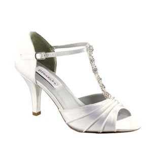 Dyeables Womens Makayla White Satin Sandals Wedding Shoes