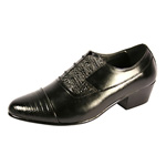 Ditalo Mens 5635 Black Leather Slip On Dress Shoes
