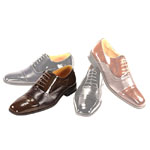 Giorgio Venturi Mens 5925 Chocolate Leather Oxford Dress Shoes