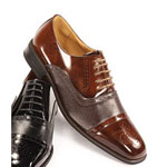 Giorgio Venturi Mens 5925 LightBrown Leather Oxford Dress Shoes