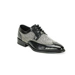 Giovanni Mens 6484 Black Leather Oxford Dress Shoes