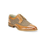 Giovanni Mens 6484 Tan Leather Oxford Dress Shoes