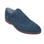 Giovanni Mens 6597 Gray Suede Wingtip Dress Shoes