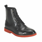Giovanni Mens 6598 Black Leather Boot Dress Shoes