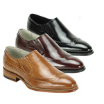 Giovanni Mens ARMO Burgundy Leather Slip On Dress Shoes