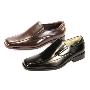 Giorgio Venturi Mens 4940 Brown Leather Slip On Dress Shoes