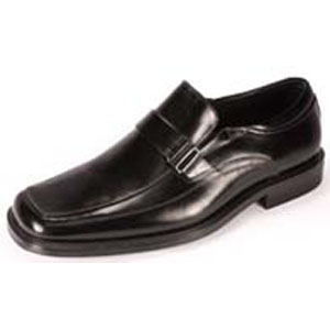 Giorgio Venturi Mens 4942 Black Leather Slip On Dress Shoes