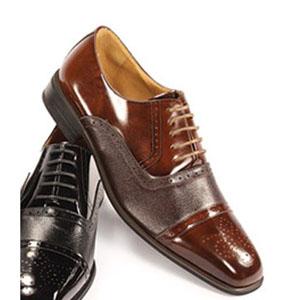 Giorgio Venturi Mens 5925 LightBrown Leather Oxford Dress Shoes
