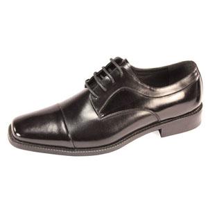 Giorgio Venturi Mens 6215 Black Leather Oxford Dress Shoes