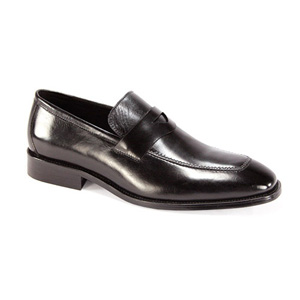 Giovanni Mens 6323 Black Leather Slip On Dress Shoes
