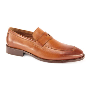Giovanni Mens 6323 Camel Leather Slip On Dress Shoes