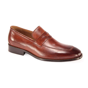 Giovanni Mens 6323 Cognac Leather Slip On Dress Shoes