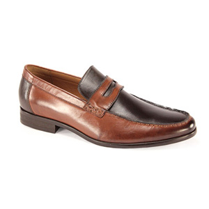 Giovanni Mens 6373 Champagne Leather Slip On Dress Shoes