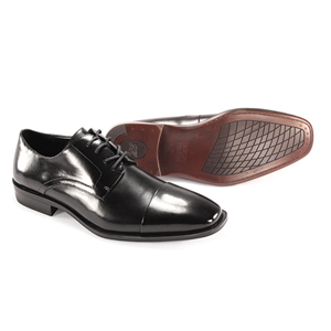 Giorgio Venturi Mens 6477 Black Leather Oxford Dress Shoes