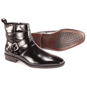 Giorgio Venturi Mens 6480 Black Leather Boots Dress Shoes