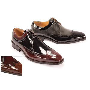 Giorgio Venturi Mens 6483 Brown/Burgundy Leather Oxford Dress Shoes