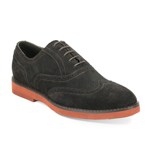 Giovanni Mens 6597 Chocolate Suede Wingtip Dress Shoes