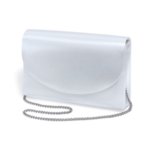 Dyeables Womens 250 White Satin   Wedding Handbags