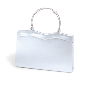 Dyeables Womens 770 White Satin   Wedding Handbags