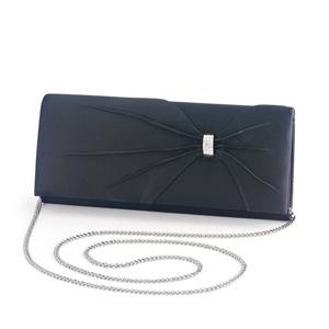 Dyeables Womens 1805 Black Satin   Wedding Handbags