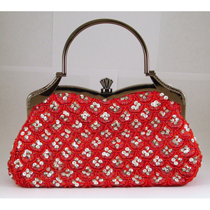 Helens Heart Womens FP-4491 Red Beaded   Casual Handbags