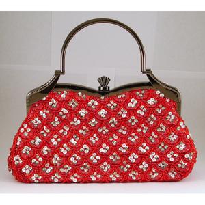 Helens Heart Womens FP-4491 Red Beaded   Casual Handbags