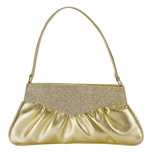 Touch Ups Womens Lorraine Gold Synthetic   Evening and Prom Handbags