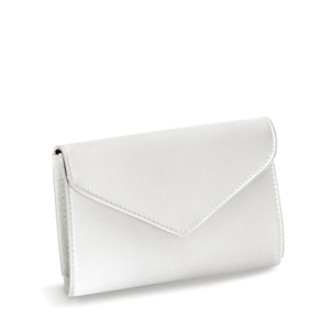 Touch Ups Womens Nellie White Satin   Wedding Handbags
