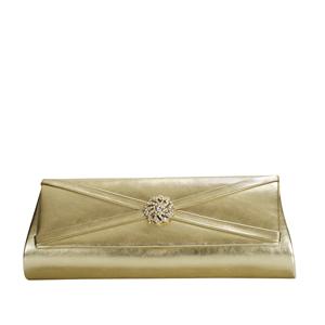 Touch Ups Womens Carson Gold Satin   Wedding Handbags