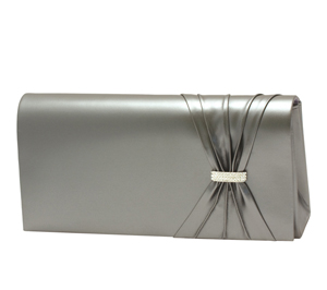 Touch Ups Womens Leona Gun Metal Synthetic   Evening and Prom Handbags