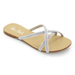 Helens Heart Womens CFW-AH038-A30 Silver Synthetic Sandals Casual Shoes