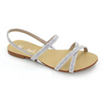 Helens Heart Womens CFW-AH038-A31 Silver Synthetic Sandals Casual Shoes