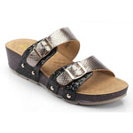 Helens Heart Womens CFW-C01 Black Synthetic Sandals Casual Shoes