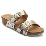 Helens Heart Womens CFW-C01 Gold Synthetic Sandals Casual Shoes