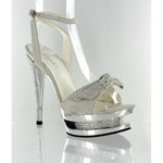 Helens Heart Womens FS-1501-108 Silver Leather Platforms Prom and Evening Shoes