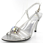 Helens Heart Womens FS-2389-10A Silver Synthetic Sandals Prom and Evening Shoes