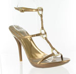 Helens Heart Womens Gala Bronze Crepe w/Satin Sandals Prom and Evening Shoes