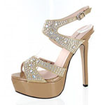 Helens Heart Womens FS-804-836 Nude Beaded Platforms Prom and Evening Shoes