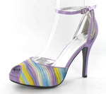 Helens Heart Womens FS-A8818-2B Purple Synthetic Sandals Prom and Evening Shoes