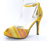 Helens Heart Womens FS-A8818-2B Yellow Synthetic Sandals Prom and Evening Shoes