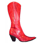 Helens Heart Womens LB-0290-10 Red Sequin Boots Casual Shoes