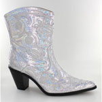 Helens Heart Womens LB-0290-11 Silver Sequin Boots Casual Shoes