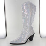 Helens Heart Womens LB-0290-12 Silver Sequin Boots Casual Shoes