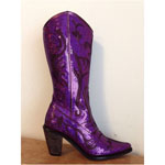 Helens Heart Womens LB-0290-12 Purple Sequin Boots Casual Shoes