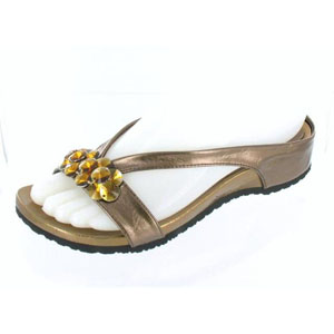 Helens Heart Womens CFW-318 Bronze Beaded Sandals Casual Shoes