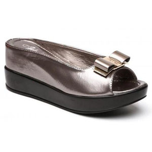 Helens Heart Womens CFW-8127-30 Grey Synthetic Peep/Open Toe Casual Shoes