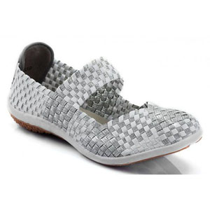 Helens Heart Womens CFW-S01 Silver Fabric Sneakers Casual Shoes